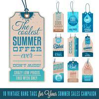 Summer Hang Hang Etiquetas Colección de 10