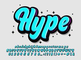 Brush alphabet style