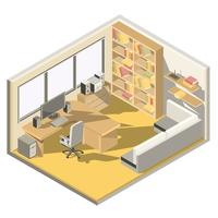 Isometric design of a home office