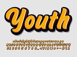 Estilo de alfabeto moderno