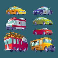 Iconos aislados de transporte urbano