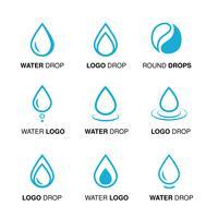 blauwe waterontwerpemblemen