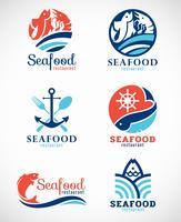 Skaldjursrestaurang och fiskuppsättning