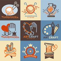 handgjorda hantverk ikoner mallar