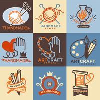 handmade craft  icons templates