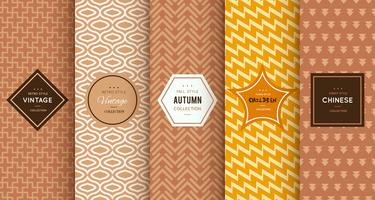 Retro seamless brown patterns