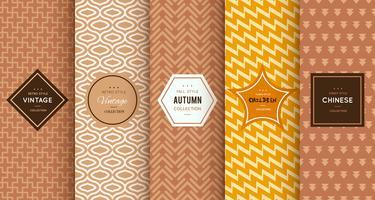 Retro seamless brown patterns