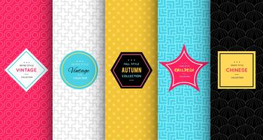 Bright colorful seamless patterns