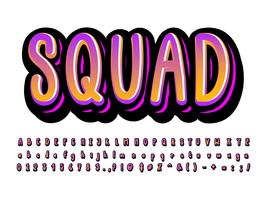 Cartoon alphabet  style