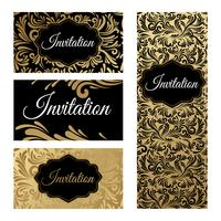 Set of templates for business cards and invitations