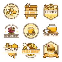 honey labels design set