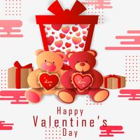 Paper cut style Happy Valentine's Day greetings background