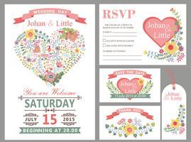 Bruiloft ontwerpsjabloon set