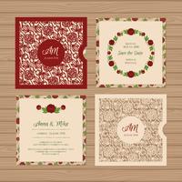 Invitation de mariage carré ou carte de voeux