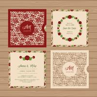 Square Wedding invitation or greeting card