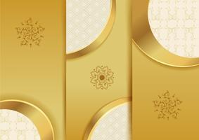modello di sfondo dorato per carta menu