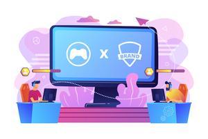Concepto de colaboración eSports
