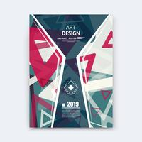 Abstract composition layout magazine