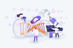 Genetic engineering concept
