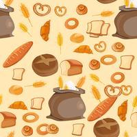 Brötchen des frischen Brotes des Bäckereimusters