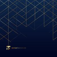 Dimensional gold lines on dark blue background vector