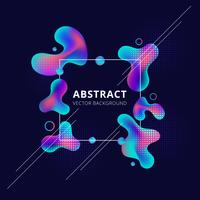 Trendy fluid shape with bright gradient colors on dark background vector
