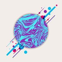 Motif géométrique de cercle bleu et violet liquide