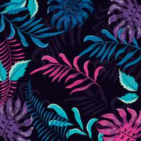 Colorful tropical floral pattern vector