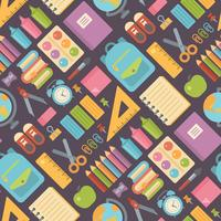 School items seamless pattern