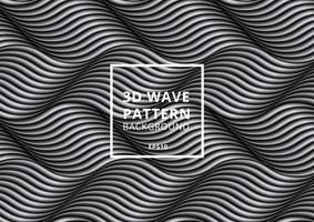 Black and white wave or curved lines pattern