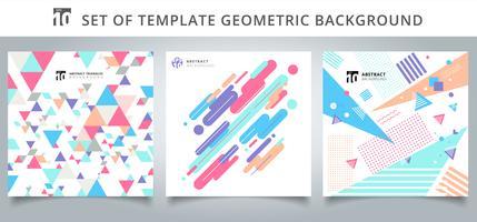 Set di copertine di motivi geometrici
