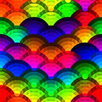 Colorful circles seamless background