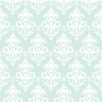 Damask seamless pastel blue pattern background vector