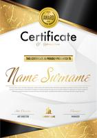 Certificate luxury diploma template