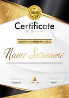 Modèle de diplôme de certificat de luxe