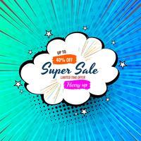 Cartoon style sale badge