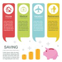 saving infographic templates vector
