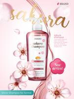Productadvertenties voor cosmetische shampoo