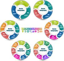 Set of circle infographic templates