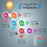 Abstraktes 3D digitales Infographic.