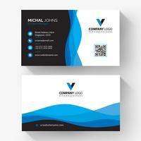 Elegant blue black corporate card