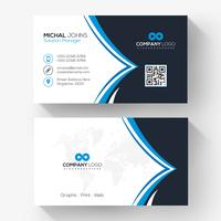Black blue elegant corporate card