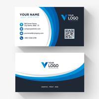 Blue black curve business card