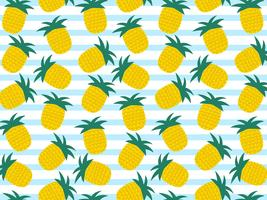 Summer Pineapple Vector Background