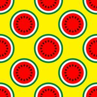 De helft van watermeloen naadloos patroon