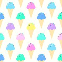 Colorful Ice Cream Cones Pattern