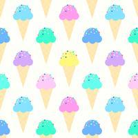 Modèle de cornets de crème glacée colorée
