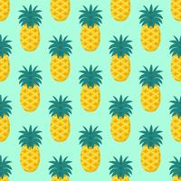 Seamless Pineapple Fruit Pattern Vector