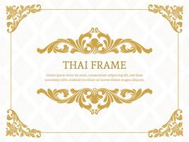 Gold Elegant Thai Themed Border Frame