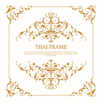 Elegant Thai Themed Frame Vector